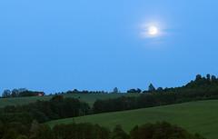 Modr plnk (Tom Markovi) Tags: blue light moon landscape fullmoon hour
