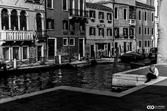 6X1B2161 (ABenyon_Photo) Tags: street old city travel blue venice sky people history water architecture boat blackwhite