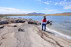 Oolitic sand on Bridger Bay (Great Salt Lake Images) Tags: summer selfportrait me utah antelopeisland greatsaltlake kayaking 2011 bridgerbay hiker56 ladyfingerpoint