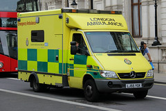 London Ambulance Service Mercedes Sprinter Emergency Ambulance (PFB-999) Tags: las colour london mercedes ambulance nhs vehicle leds service van emergency grilles unit the sprinter 2016 lightbar trooping sidelights fendoffs lj55ygk