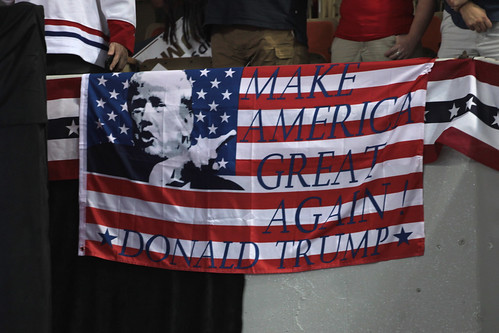 From flickr.com: Donald Trump flag {MID-72396}