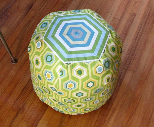 Hexagon Pouf Ottoman