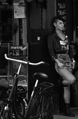 ...... (wojofoto) Tags: bw girl amsterdam fashion punk mode meisje westerstraat zw stadsarchief filmshot wojofoto