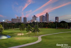 Manila, Philippines - Golf Club (GlobeTrotter 2000) Tags: travel summer vacation green tower tourism sport club golf relax asia cityscape philippines relaxing visit course manila makati intramuros skile