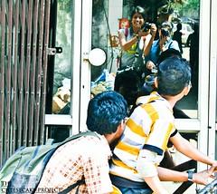(Stuti ~) Tags: door old girls woman india reflection girl bicycle kids female children women photographer indian grill females mumbai shoottheshooter girgaum