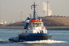 Tug Fairplay-23 (MarkCantPark) Tags: sea holland water boat rotterdam marine waves sailing ship north vessel cargo container maritime tug nautical hook swell current tanker