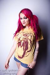 IMG_6795 (willgrahamphotography.co.uk) Tags: tattoo model tshirt piercing jewellery product pinkhair whiplash strobist darkarts
