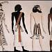 Quatres Races Selon les Egyptiens Anciens .
