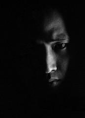 CameraRawTest-1 (fujinliow) Tags: portrait blackandwhite bw art dark lumix mono scary noir darkness artistic fear experiment adobe horror stare gif horrible scare darkside filmnoir cameraraw adobecameraraw gh2 fujinliow gh2raw