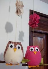 So mbiles! (Mrcia Alves Gonalves de Lima) Tags: artesanato feltro corujafeltro corujatecido mobilecoruja mobiletecido