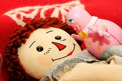 Be My Valentine! If you dare! (Hannhell) Tags: vintage toys valentine american british 1990s mrblobby raggedyann