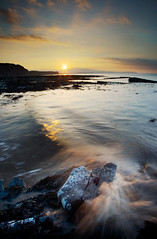 Kilve, Somerset (Chris Rutter1) Tags: sunset sea sky seascape water evening waves