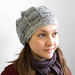 Grey 'Aduki' hat by suziesparkle