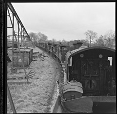 February 14, 1963 (National Library of Ireland on The Commons) Tags: ireland wednesday crane 14 trains engines 1960s february scrap railways sixties locomotives gauges railroads 1963 gantry mullingar leinster westmeath nationallibraryofireland cranegantry jamespodea odeaphotographiccollection