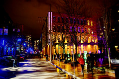 2012 Illuminate Yaletown (TOTORORO.RORO) Tags: show street light canada color reflection night vancouver lens mirror bc view britishcolumbia sony yaletown translucent alpha f28 hdr slt ssm greatervancouver a55 1650mm illuminateyaletown sal1650