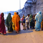 "Women at Ganges Ghat <a style=""margin-left:10px; font-size:0.8em;"" href=""http://www.flickr.com/photos/14315427@N00/6880479209/"" target=""_blank"">@flickr</a>"