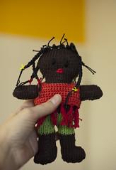 gebreid meisje bruin (Marachtig) Tags: dolls crochet pop haken poppetje etui glassesholder haakwerk briletui crochetdolls