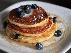 Blueberry Pancakes {Explored} (WeeLittlePiggy) Tags: food breakfast blueberry pancake