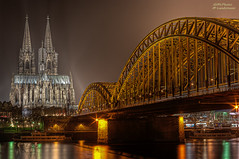 The Cologne cathedral with 50mm (mlphoto) Tags: bridge light reflection night river lights licht flickr ship cathedral pentax nacht dom cologne sigma kln brcke rhein spiegelung schiff hdr lichter reflektion nachtaufnahme nighshot klnerdom colognecathedral langzeitbelichtung longtimeexposure hohenzollern sigma3014 flus lr4 k20d pentaxk20d mlphoto mlphoto ligthroom4 markuslandsmannzenfoliocom
