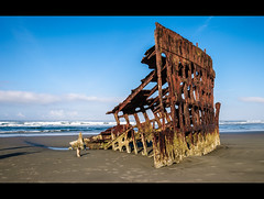 May God bless you and may your bones bleach in these sands..... (laughlinc) Tags: water skyline oregon coast peter shipwreck wreck iredale lr4 nikond80 peteriredaleshipwreck 18135mmf3556 thechallengefactory lightroom4beta