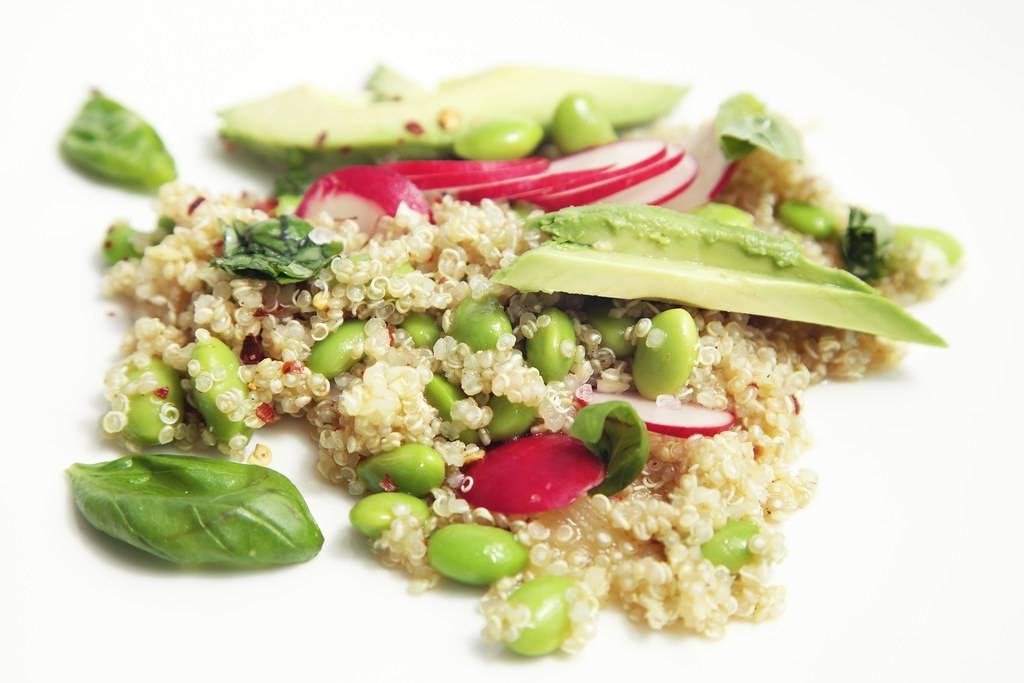 Avocado, Fava & Quinoa Salad