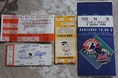A sampling of some old NY Mets tickets I had (Hazboy) Tags: show new york ny tickets ticket mets mlb billets hazboy hazboy1