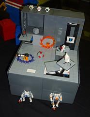 LEGO Portal 2 (sciencensorcery) Tags: lego portal conventions megacon con megacon2012