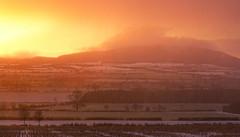 Snow Storm (Natasha Bridges) Tags: morning mist snow storm sunrise dawn shropshire wrekin