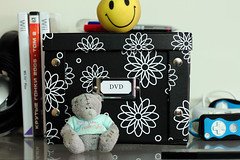 New box for DVD's (KaterRina) Tags: bear smile canon toy design dvd box 50mm14 oneobject365daysproject pukatukas
