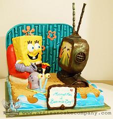 spongebob (ArtisanCakeCompany) Tags: cake oregon portland bakery artisan sculpted fondant artisancakecompany