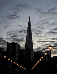 San Francisco Sunset (Greg - AdventuresofaGoodMan.com) Tags: sanfrancisco sunset silhouette skyscraper pier embarcadero transamerica transamericabuilding