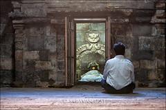 Conversation (Saravana Raj) Tags: india man temple god prayer amman lonely conversation meditation devotees solitary madurai tamilnadu meenakshi
