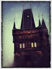 Prague Tower #1 (CJPolitzki) Tags: vintage flickr prague grunge iphone ipodtouch snapseed