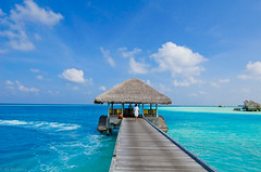 At the Beginning (Mystrimus) Tags: ocean blue sky clouds nikon lagoon gili maldives soneva d7000