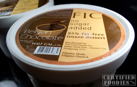 FIC Belgian Chocolate Frozen Dessert is 95 percent fat-free and no sugar added - CertifiedFoodies.com