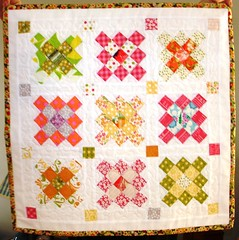 Finished Granny Squares Mini (Dee'sDoodles) Tags: pink blue trees orange white green art grass painting purple squares moda blocks quilts granny sunkissed