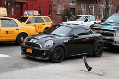 2012 MINI Cooper S Coupe (Alex Nunez) Tags: street nyc newyorkcity ny newyork manhattan pigeon mini s cooper parked coupe hellskitchen 2012