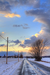 March Sunset (Matt Champlin) Tags: life winter sunset snow cold clouds rural snowy windy upstatenewyork blustery skaneateles countryroadinwinter