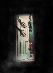 Achluophobia: Fear Of The Dark (Ian_Arneson) Tags: portrait mist black art me fog photoshop dark myself photography scary hands nikon darkness fear vivid surreal sigma creepy bones 1770 collaboration hardcastle brianne phobia d90 i phlearn ianarneson
