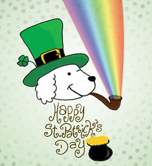 Happy St. Patty's! (bruna barretto) Tags: green rainbow cotton fourleafclover stpatricksday potofgold