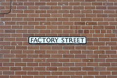 (Crausby) Tags: red england urban house detail brick english sign manchester wire industrial factory property domestic radcliffe manc terraced mancunian factorystreet