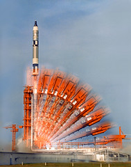 1966 ... time lapse- Gemini-Titan launch (x-ray delta one) Tags: sf mars 1955 illustration vintage mercury space astronaut nasa 1950s skylab scifi lifemagazine rocket sciencefiction 1960s outerspace tomorrowland apollo gemini mir cosmonaut vostok thefuture aerospace cccp saturnv soyuz worldoftomorrow spacerace spaceexploration magazineillustration maninspace robertmccall
