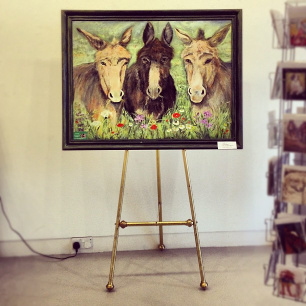 IF THE BEE GEES WERE DONKEYS #kent #whitstable #art
