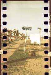 That way (Plain Bananas) Tags: sea film beach analog 35mm photography lomo lomography sand cyprus panoramic palmtrees diana analogue dianaf toilets larnaca sprockets publictoilets larnaka mckenziebeach
