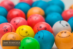 Smiley Face Gum Balls (amycicconi) Tags: colors smile face ball rainbow colorful candy sweet crowd group balls row pile sweets bubblegum gumball gumballs smileyface shallowdepthoffield alot rainbox piled