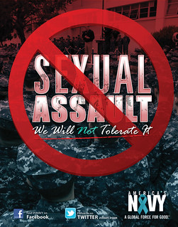 A sexual assault awareness poster.