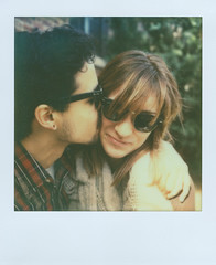franklin and dani. (ten minutes) Tags: color film polaroid sx70 couple batch shade sonar 1211 px70 patricktobin franklinobregon impossibleproject daniellezaremba