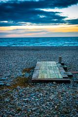 Couch de soleil sur la plage du Havre (etrephotographe) Tags: mer france published seascapes horizon plage lehavre seinemaritime exterieur couchedesoleil plancheenbois