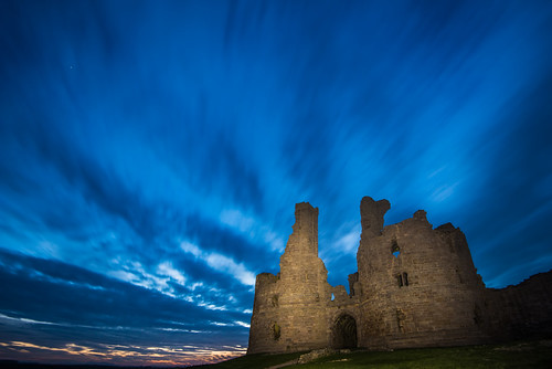 Dunstanburgh Blue (64166049@N04), photography tags:  longexposure blue castle night clouds shadows dunstanburgh dunstanburghcastle
