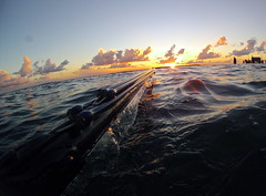spearfishing gopro hero 2 (N.Checkley) Tags: sunset 2 water beautiful island dusk calm hero amity reflextion stradbroke 1300 spearfishing piont roballen gopro